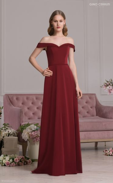 Abendkleid Valeria (bordeaux)