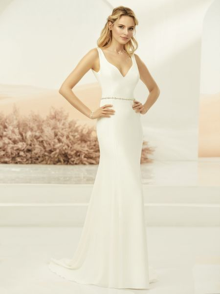 Hochzeitskleid Calva (elfenbeinfarben)