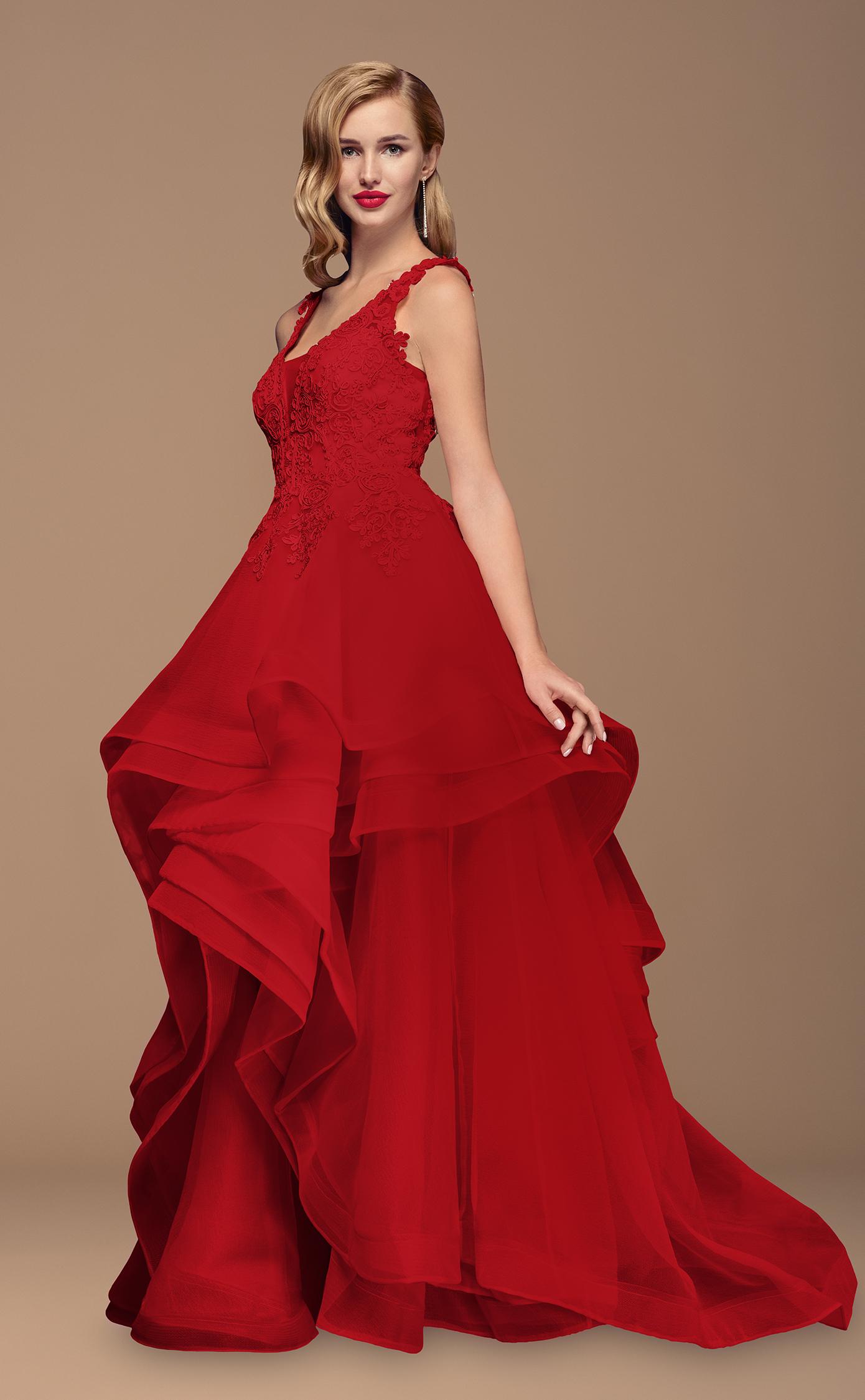 Rotes Ballkleid/Brautkleid | Samyra Fashion
