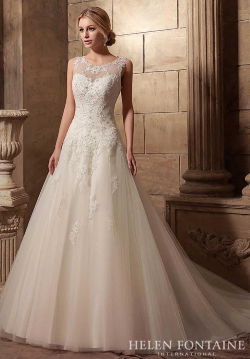 Brautkleid aus t ll und mit spitzen tr gern samyra for Loue robe de mariage utah