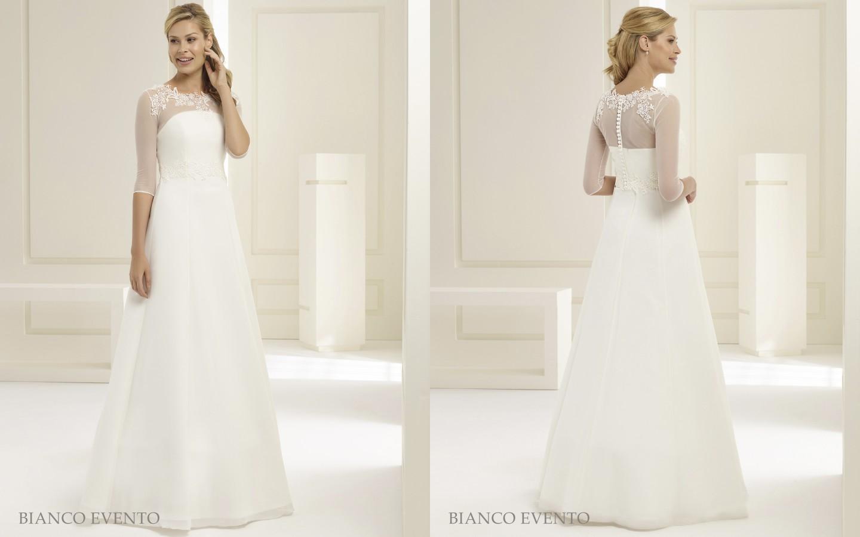 Schlichtes Brautkleid von Bianco Evento aus Chiffon | Samyra Fashion ...