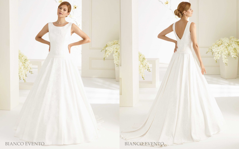 Brautkleid aus Jacquard-Stoff mit schöner Rückenansicht | Samyra ...