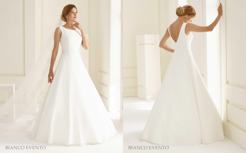 Schlichtes, elegantes Brautkleid aus Chiffon | Samyra Fashion ...