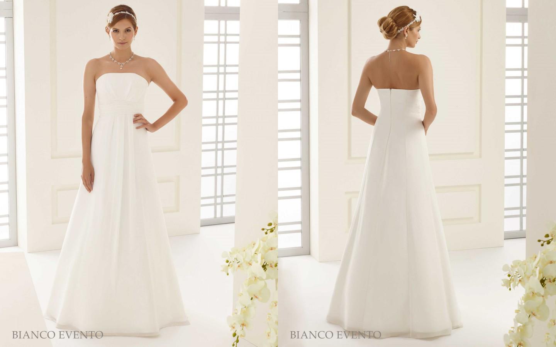 Trägerloses Brautkleid in A-Linie aus Chiffon | Samyra Fashion ...
