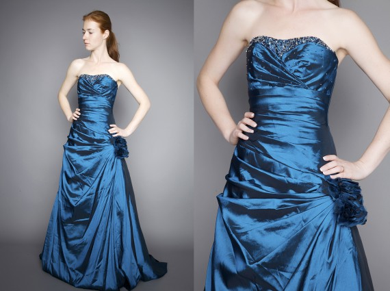 Ballkleid petrolblau