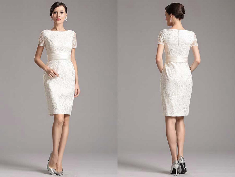 Brautkleid kurz aus Spitzen | Samyra Fashion - Preiswerte Brautmode ...