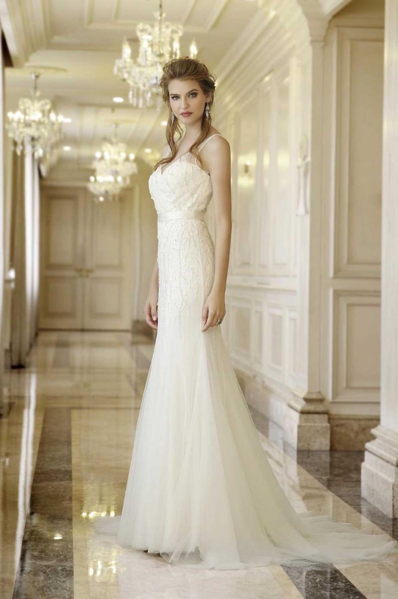 Hochzeitskleid aus Chiffon-Tüll im Vintage-Stil | Samyra Fashion ...