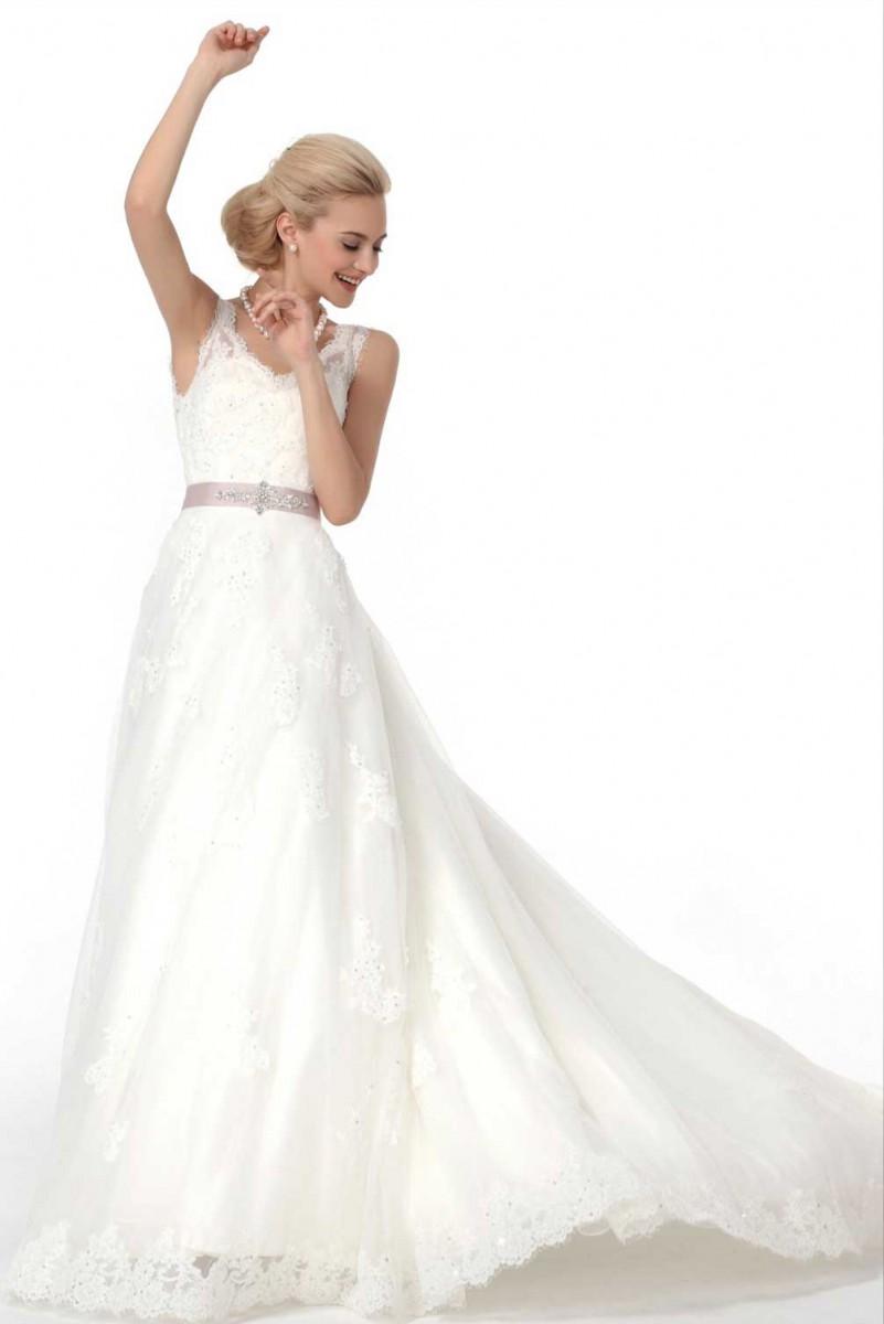 Hochzeitskleid aus Spitze und Tüll mit Trägern | Samyra Fashion ...