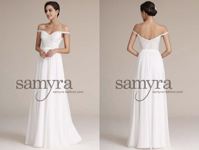 Brautkleid mit seitlichen Trägern   Samyra Fashion - Preiswerte ...