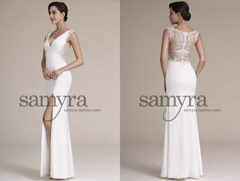 Elegantes Brautkleid Mit Tragern Samyra Fashion Preiswerte
