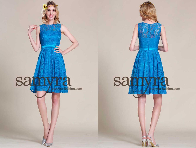 Geschlossenes Cocktailkleid aus Spitze | Samyra Fashion - Preiswerte ...