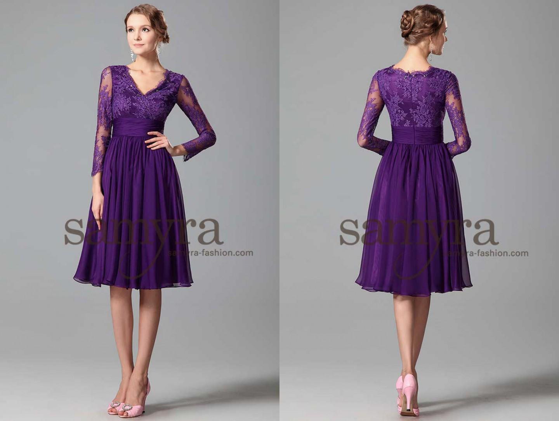 Cocktailkleid mit Ärmeln | Samyra Fashion - Preiswerte Brautmode und ...